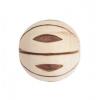 Wood Bead Melon 20mm Natural/Dark Brown